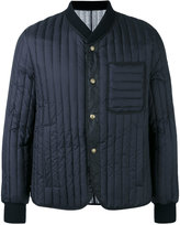 Moncler Gamme Bleu ribbed bomber jacket - men - Cotton/Feather Down/Polyamide/Cupro - 1
