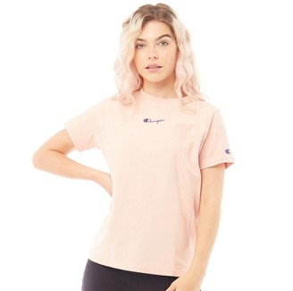 Champion Womens Crew Neck T-Shirt Dusty Pink