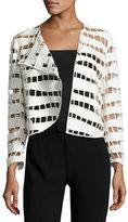 Akris Long-Sleeve Cutout Jacket, Calla White