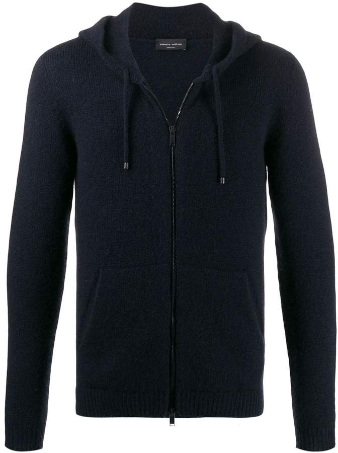 Roberto Collina slim-fit knit zip hoodie