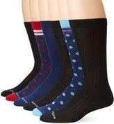 Steve Madden Men's 6 Pack Dot Fashion Crew Socks
