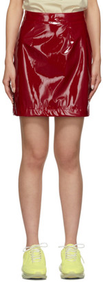 Kirin Red Latex Miniskirt