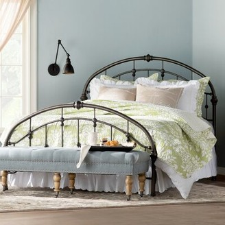 Three Posts Martinsburg Standard Bed Size: Full, Color: Antique Dark Bronze