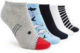 Forever 21 FOREVER 21+ Shark Print Ankle Sock - 5 Pack