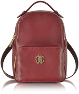 Roberto Cavalli Small Leather Backpack w/Front Pocket
