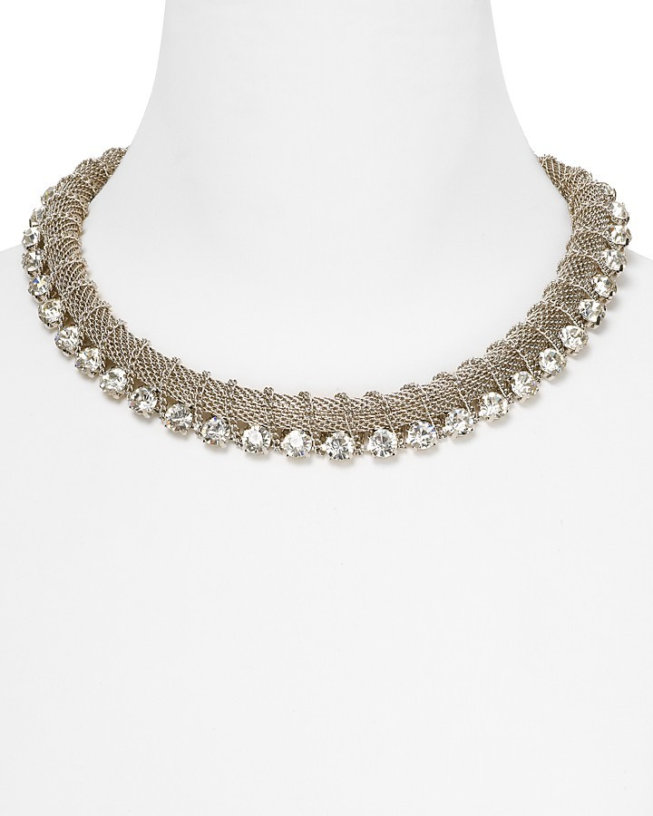 RJ Graziano Chunky Crystal Collar Necklace, 14""