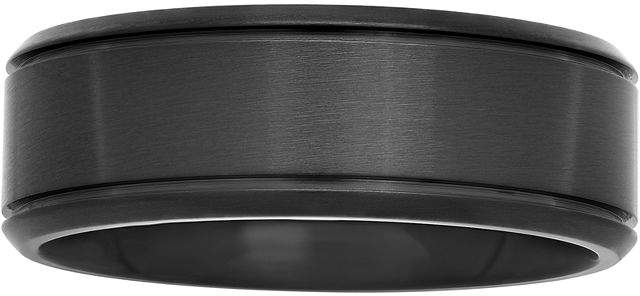 JCPenney MODERN BRIDE Mens Black Stainless Steel 8mm Wedding Band
