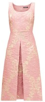 Dolce & Gabbana Metallic Floral-brocade Midi Dress - Womens - Pink Multi