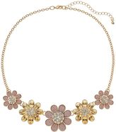 Apt. 9 Pink Glitter Graduated Flower Necklace