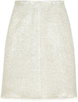 Marc Jacobs Metallic bouclé wool-blend skirt
