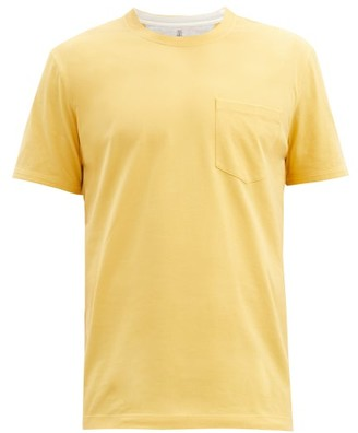 Brunello Cucinelli Patch-pocket Cotton-jersey T-shirt - Yellow