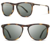 Shwood Women's Keller 53Mm Polarized Sunglasses - Matte Brindle/ G15 Polar