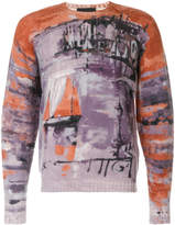 Prada fishing village print sweater