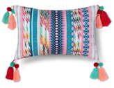 "Xhilaration Yarn Dyed Texture Tassel Pillow (17.7""x10.4"") Multicolor"