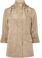 Dorothy Perkins Womens Camel Showerproof Technical Mac- White