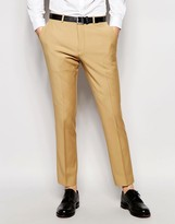 Asos Wedding Slim Suit Pants In Camel