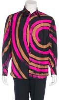 Gianni Versace Silk French Cuff Shirt
