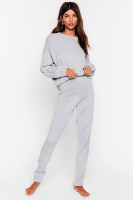 Nasty Gal Womens Lounge What I Was Looking For Jumper & Jogger Set - Grey - S