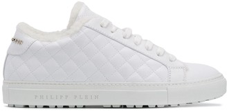 Philipp Plein Diamond-Quilt Lace-Up Sneakers