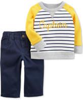 Carter's 2-Pc. Cotton Pullover & Pants Set, Baby Boys