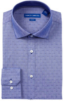 Vince Camuto Diamond Jacquard Trim Fit Dress Shirt
