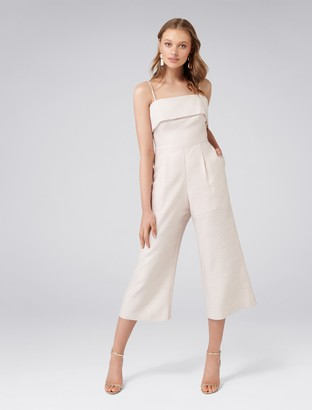 Forever New Willow Strapless Metallic Jumpsuit - Pink - 14