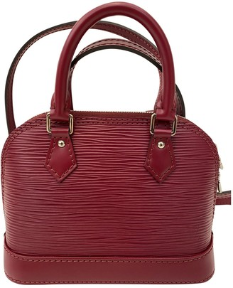 Louis Vuitton Alma BB Burgundy Leather Handbags