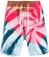 Paura tie dye track shorts