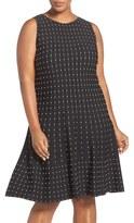 Nic+Zoe Plus Size Women's 'Starburst' Fit & Flare Twirl Dress