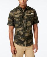 Sean John Men's Lightweight Palm-Print Linen Short-Sleeve Shirt