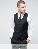 Heart & Dagger Super Skinny Waistcoat In Black