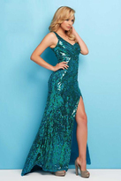 Mac Duggal 4122 L Emerald Green