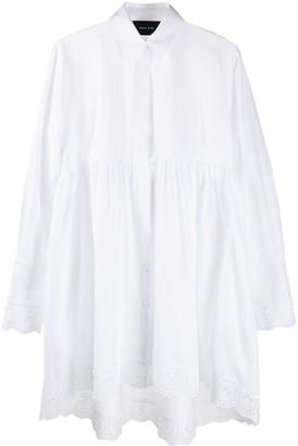 Simone Rocha Broderie Anglaise-Trimmed Long Shirt