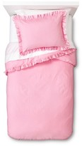 Nobrand No Brand Ruffle Edge Duvet Set - Pink (Full-Queen)
