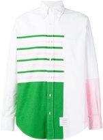 Thom Browne printed panel shirt - men - Cotton - 0