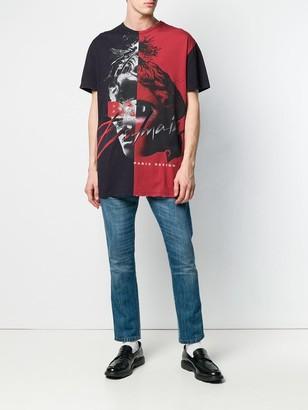 Balmain Color Block Graphic T-shirt