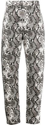 ATTICO Dua python-effect print trousers