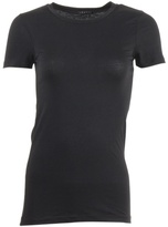 THEORY - Black crew neck fitted T-shirt