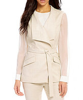 Antonio Melani Olly V-Neck Belted Basketweave Vest