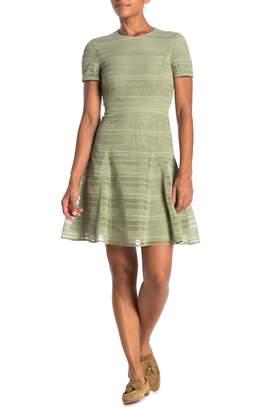 Burberry Crochet Lace Fit & Flare Dress
