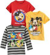 Disney Disney's Mickey Mouse Toddler Boy 3-pc. Mickey Tee Set