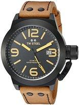 TW Steel Men's CS42 Analog Display Quartz Brown Watch