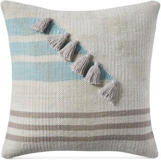 Lucky Brand 18x18 Stripe Tassle Decorative Pillow
