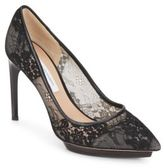 Diane von Furstenberg Madrid Lace Point Toe Platform Pumps