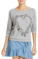 Aqua Lauren Moshi x Heart Charm Graphic Sweatshirt - 100% Exclusive