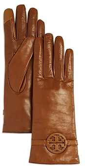 Tory Burch Miller Cashmere Lined Leather Gloves