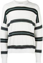 Ami Alexandre Mattiussi striped boxy sweater - men - Cotton/Polyamide - S