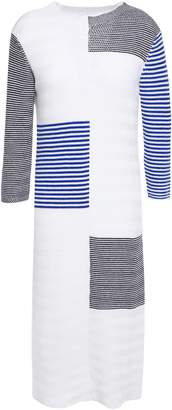 By Malene Birger Intarsia Merino Wool And Cotton-blend Dress