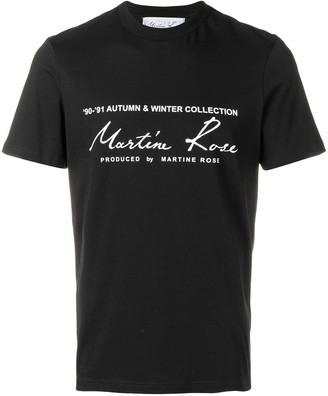 Martine Rose printed logo T-shirt