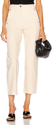 Lemaire Twisted Pant in Cream | FWRD